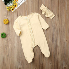 Load image into Gallery viewer, Newborn Baby Cotton Long Sleeve Pajamas Outfits