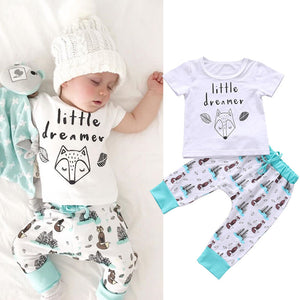 Printed Little Dreamer Baby Clothes Set
