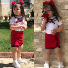 Load image into Gallery viewer, Adorable Toddler Kids Girls Short Sleeve Tops Skirts Outfits