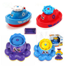 Load image into Gallery viewer, Electric Rotating Spraying Water ship Toy