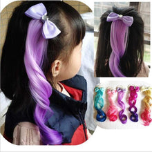 Load image into Gallery viewer, Cute Rainbow Glitter Elastic Hair Accessories