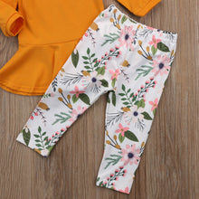 Load image into Gallery viewer, Floral Pants Yellow & White Clothes Sets
