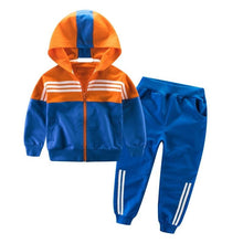 Load image into Gallery viewer, Children Sports Suit Hooded Outwears Tracksuit