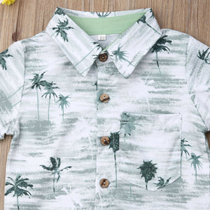 Summer Coconut Tree Clothing Set