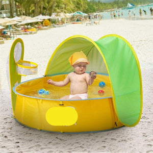 Children Swimming Pool With Tent Sun Shelter