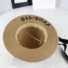 Load image into Gallery viewer, Girls Off-Duty Straw Hat