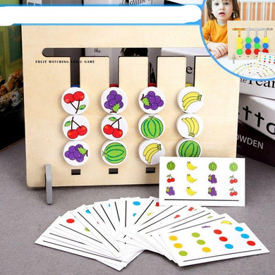 Matching Fruit Wooden Game