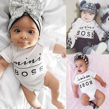 "Load image into Gallery viewer, ""Mini BOSS"" Newborn Baby Jumpsuit Clothes"