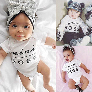 """Mini BOSS"" Newborn Baby Jumpsuit Clothes"