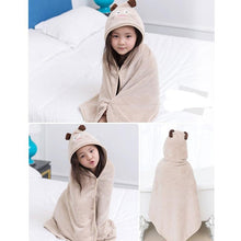 Load image into Gallery viewer, Cute Baby Towel Hooded Bathrobe