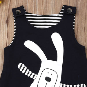 Cute Newborn Baby Unisex Sleeveless Easter Bunny Romper Jumpsuit