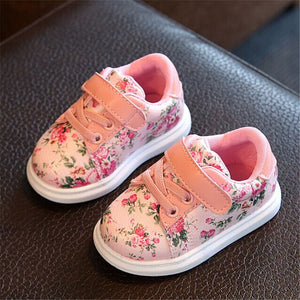 Comfortable Leather Cute Flower Baby Shoes