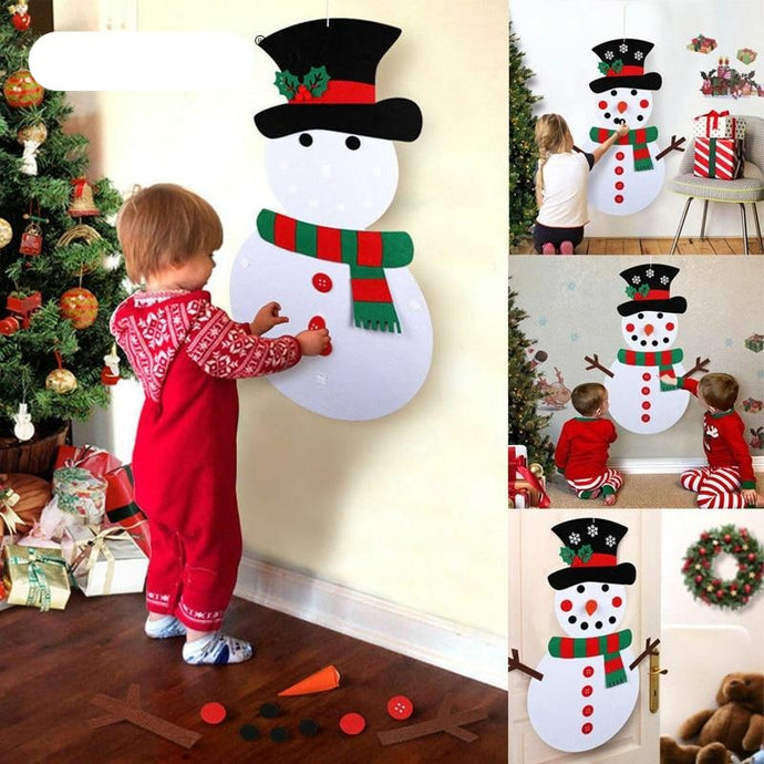 DIY Felt Snowman Toys Decoration
