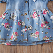 Load image into Gallery viewer, Princess Denim Floral Dress