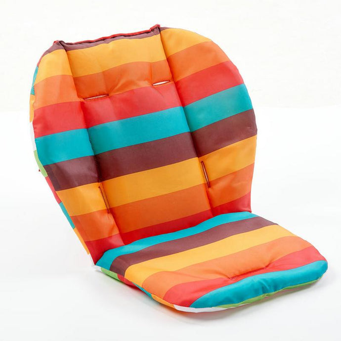 Double Sided Rainbow Waterproof Baby Stroller Seat Cushion