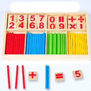 Montessori Mathematical Wooden Counting Sticks Toys