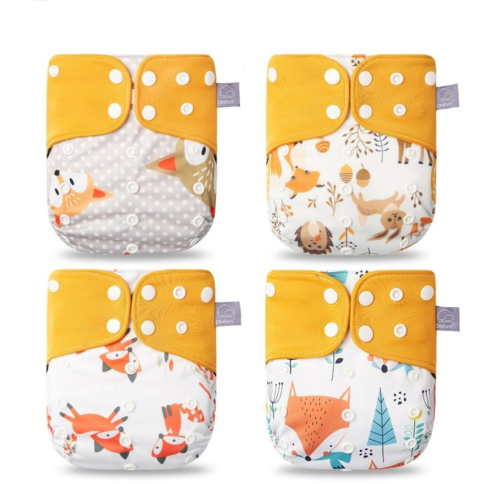 New 4pcs/set Adjustable Nappy Reusable Cloth pocket Diapers