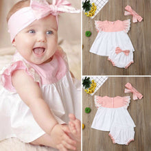 Load image into Gallery viewer, Angelic Baby Girl Outfit Set