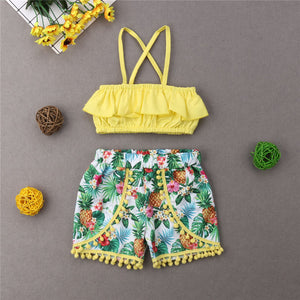 Fashion Leisure Baby Girl Summer Set