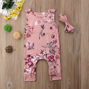 Floral Baby Girls Clothing Sets