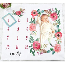 Load image into Gallery viewer, Baby Milestone Blanket Photography Props