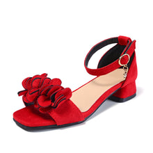 Load image into Gallery viewer, Flowers High Heels Beach Sandals