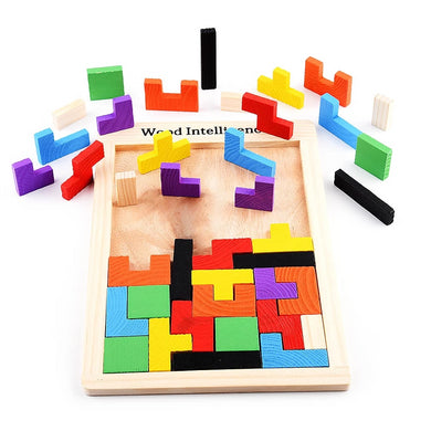 Wooden Learning colorful 3D Puzzle