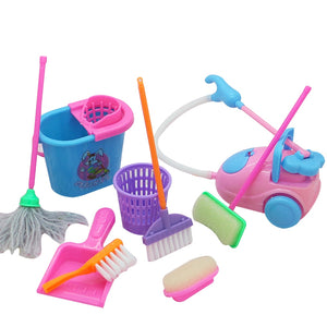 Cleaning Tool doll house accessories For Doll