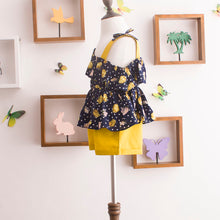 Load image into Gallery viewer, Girl Retro Floral Summer Fashion Sets