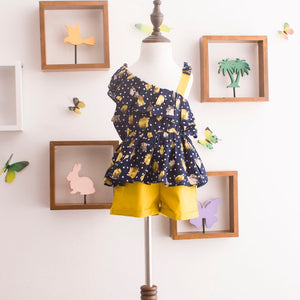 Girl Retro Floral Summer Fashion Sets