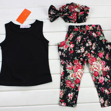 Load image into Gallery viewer, Girls Fashion Floral Casual Clothing Set