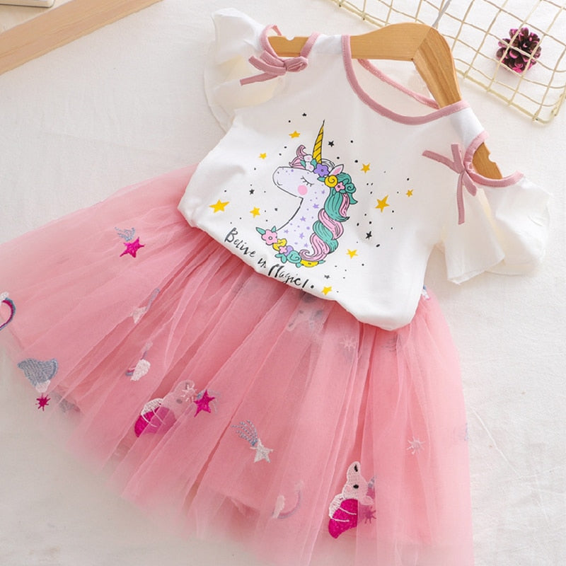 Unicorn Clothing Tutu Dress Set
