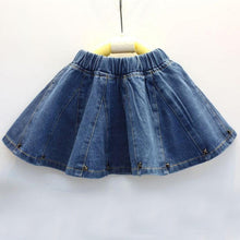 Load image into Gallery viewer, Girls Cute Denim Skirt