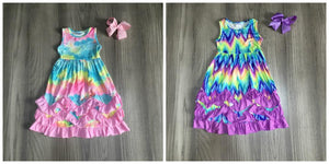 Summer Girls Pastel Wave Tie-Dyed Clothes