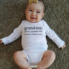 Load image into Gallery viewer, Grandma A Mom Without Rules Casual Baby Long Sleeve Baby Rompers