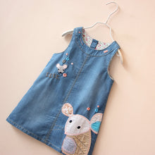 Load image into Gallery viewer, Cute mouse Denim Jeans Overalls Sleeveless Dress