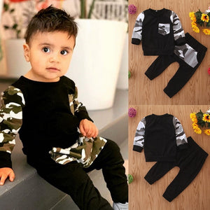 Automne Toddler Automne Camouflage Hoodies Clothes