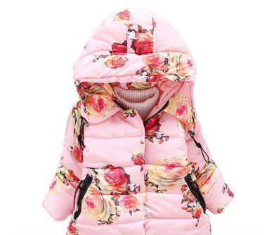 Coat Warm Hooded Outerwear for Girls