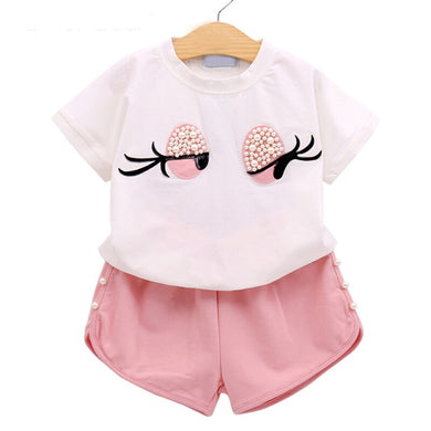Lovely Long Eyelashes Clothing Set