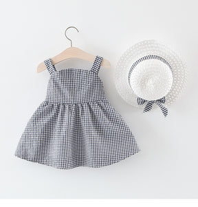 Chequered Summer Dress and Hat