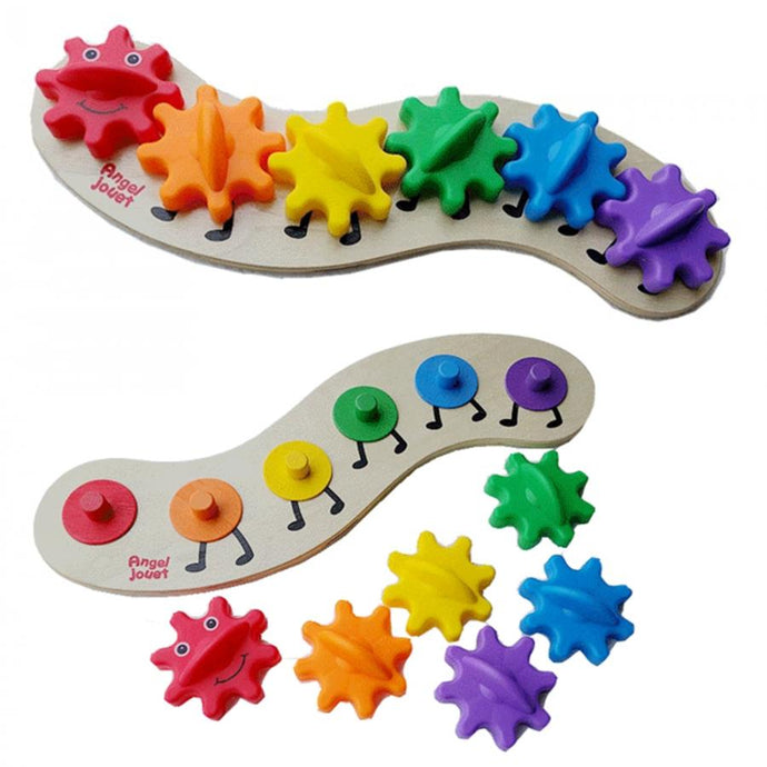 Caterpillar Assembling Colorful Blocks Toys
