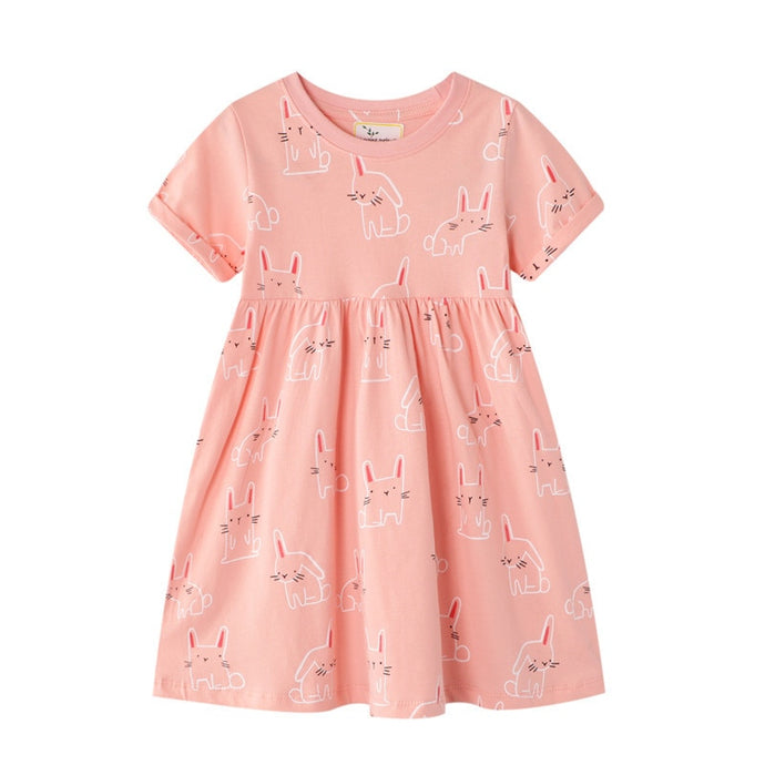 Cat Print Baby Casual Dress