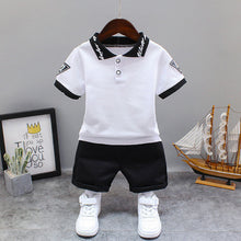 Load image into Gallery viewer, White  Black Children Kid's Sport Suit Set