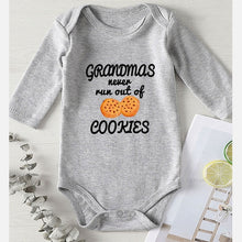 "Load image into Gallery viewer, ""Grandmas never run out of Cookies"" Onesies"