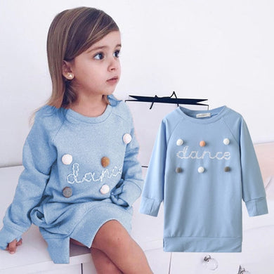 Spring Winter Cartoon Letter Embroidery Sweatshirt