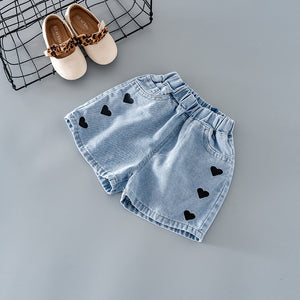 Girls love denim shorts for kids