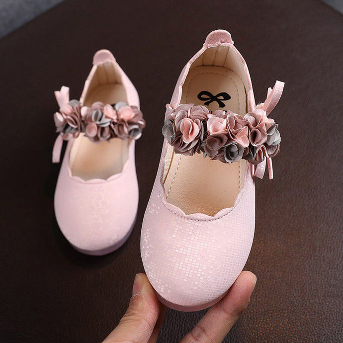 Children's Flats Lace Big Flower Princess Shoes