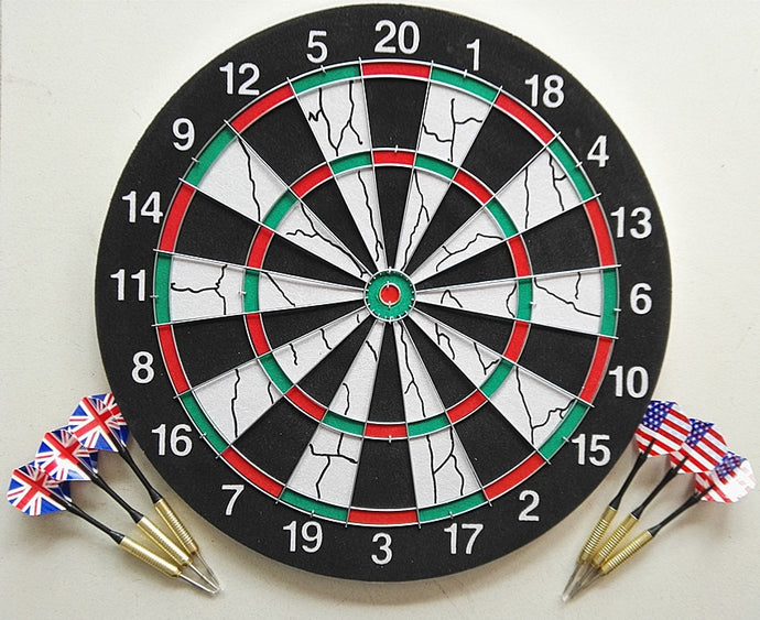 36CM Double-sided Flocking Dart Board Steel Tipped Darts
