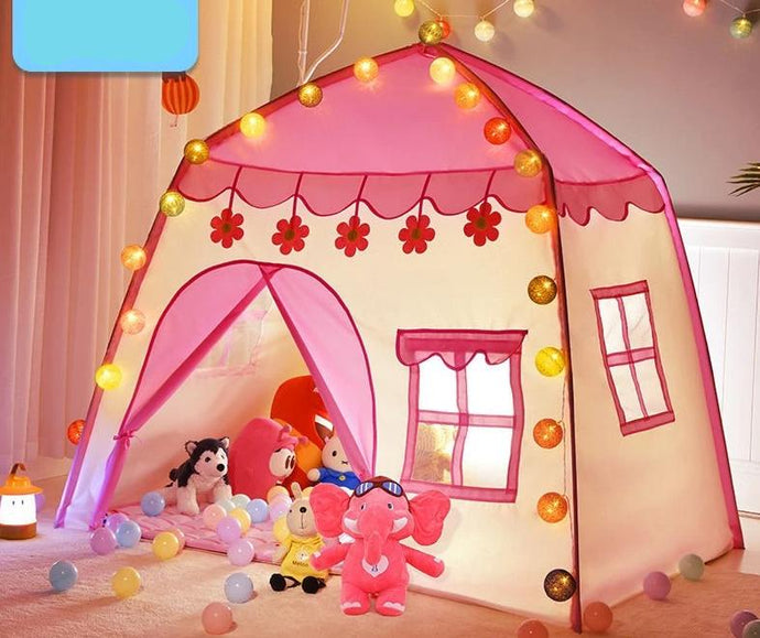 Kids Play Princess Castle Folding Tent Playhouse