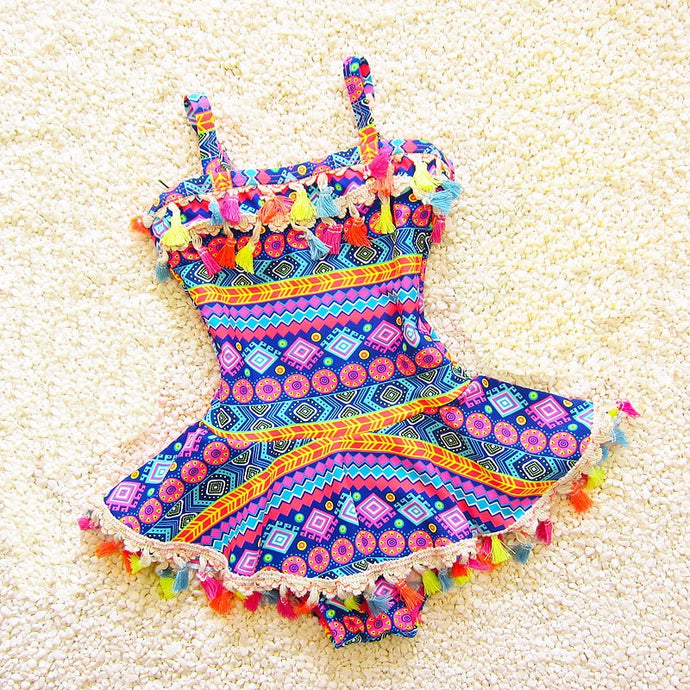 Tassel Baby One Piece Kids Swimwear